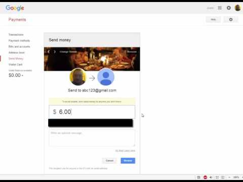 how to send money with google wallet