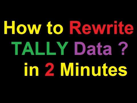 How to Rewrite Tally Data | TALLY Data ERROR ! | Solve Tally Data Error in 2 Minutes