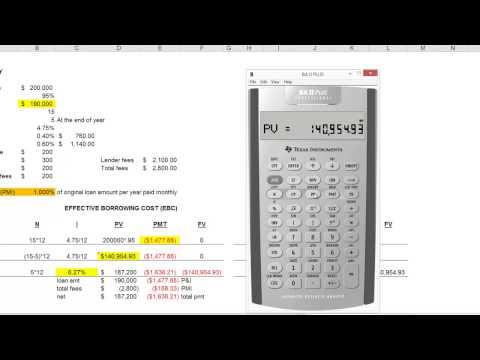 EBC & LY on financial calculator