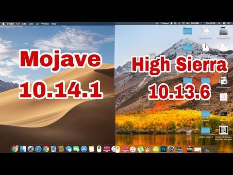 Mojave 10.14.1 vs High Sierra 10.13.6 Boot test | Apps opening test