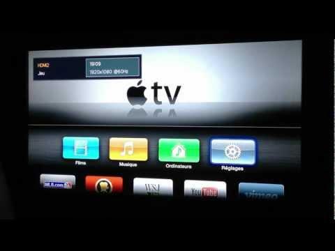 Test et configuration de l'Apple TV (3G) / AirPlay iPad et Partage iTunes