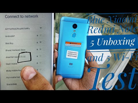 Blue Xiaomi Redmi Note 5 Unboxing and 5G Look