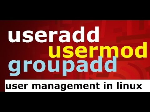 useradd/usermod/groupadd (user management) commands in linux