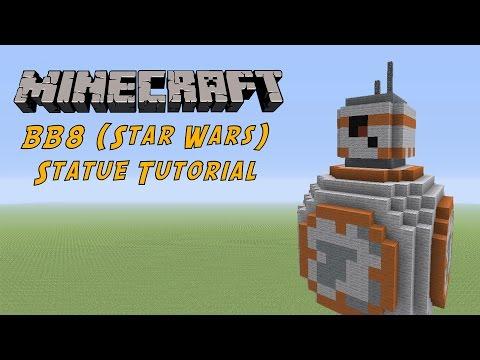 Minecraft Tutorial: BB8 (Star Wars The Force Awakens) Statue