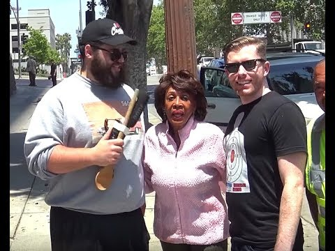 Maxine Waters Runs From Russia Corruption Question | March For Truth Protester Fails | FLECCAS TALKS