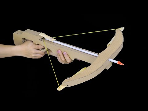 PUBG best gun - How to make a crossbow pubg from cardboard