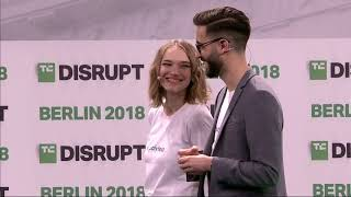 Polyteia presents in the Startup Battlefield Finals at Disrupt Berlin