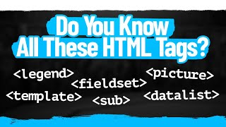 5 Must Know HTML Tags That Almost Nobody Knows