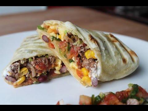 Burritos mit Hackfleischfüllung (Rezept) || Beef Burritos (Recipe) || [ENG SUBS]
