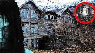 (GIRL SCREAMS!) OVERDAY CHALLENGE IN GIRLS HAUNTED HOUSE | CREEPY GIRL GIGLES HEARD!!