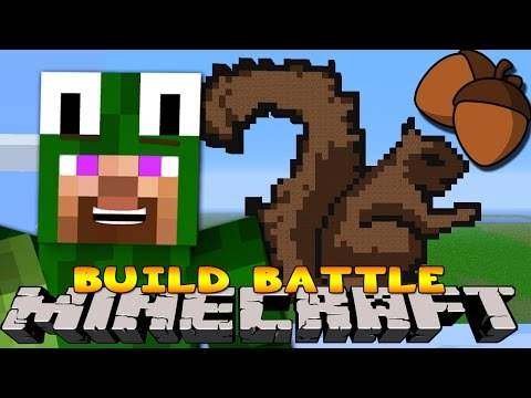 Minecraft - BUILD BATTLES - KANGAROOS & SQUIRRELS!