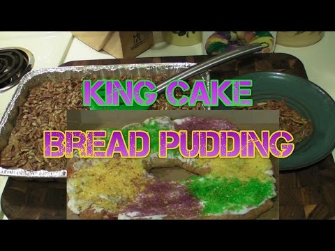 King Cake Bread Pudding Recipe