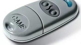 Считывание кодов пульта от шлагбаумов Came с помощью Arduino. Эмитация нажатия кнопки пульта Came.