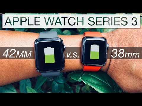 Apple Watch⌚️Series 3 LTE [ 42mm vs 38mm ] Battery Life Comparison in 4K