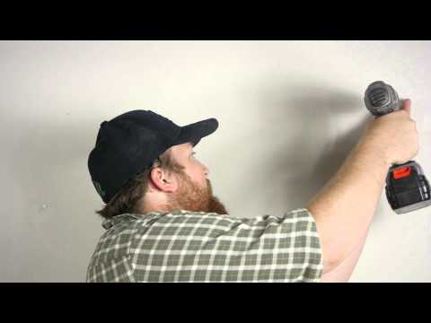 How to Hang Curtain Rods on Drywall : Wall Repair