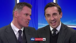 Who do Neville and Carragher think are favourites to win the Premier League - Liverpool or Man City?