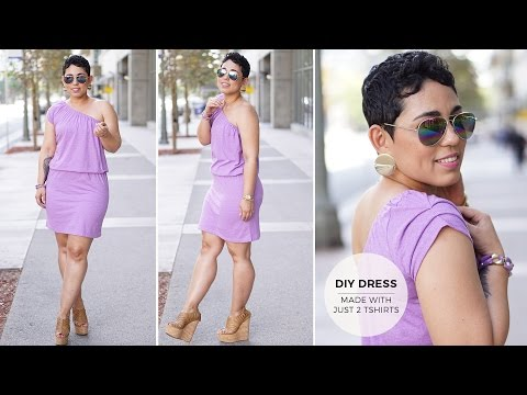 DIY Tutorial: Make A Dress With Two T-Shirts