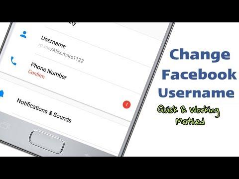 How To Change Facebook Username  ?  | Using Messenger App