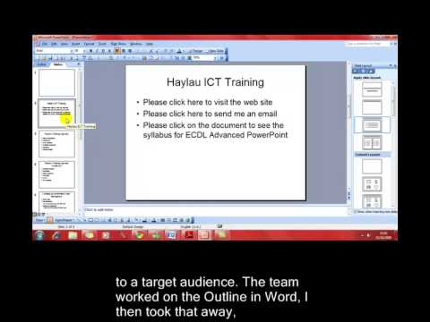 AM 6.6.2 Importing and exporting Microsoft PowerPoint 2003