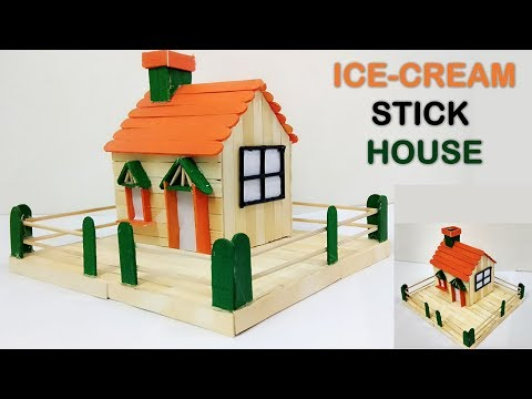 How to Make Ice Cream Stick House | DIY | 5 minutes craft
