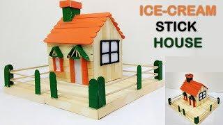 How to make ice cream stick house