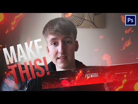How To Make A Clean Gaming Youtube Banner In Photoshop 2018