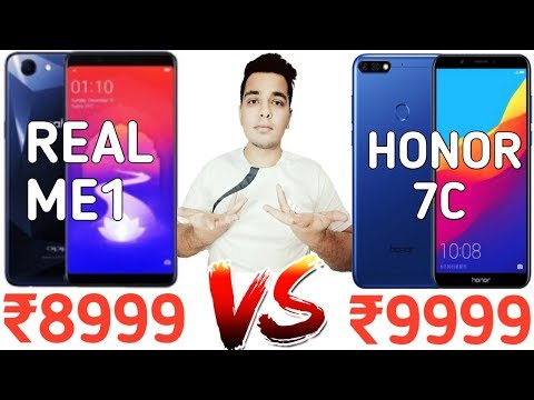 Honor 7C Vs Real Me 1 - Which Is Better Under 10000?? [Hindi]