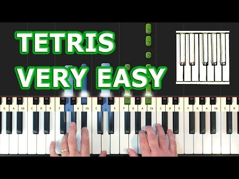 Tetris - Piano Tutorial EASY - Korobeiniki (Synthesia)
