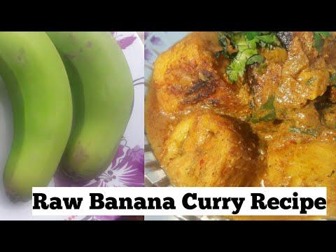 Raw Banana Curry- Kachche kele ki yummy  sabzi Banana ki Recipe by sunita's kitchen.