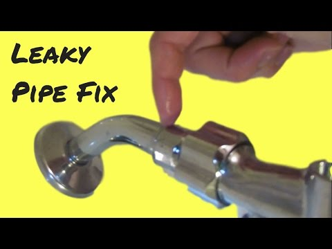 How to fix a leaky shower head and leaky pipes