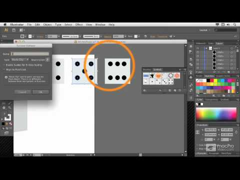 Illustrator CS6 105: 3D: Create 3D Objects - 11. Mapping Art onto a Box Creating Dice