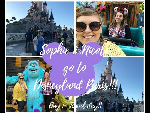 SOPHIE & NICOLA GO TO DISNEYLAND PARIS!!! Disneyland Paris September 2017 vlogs! Part#1 Travel day!