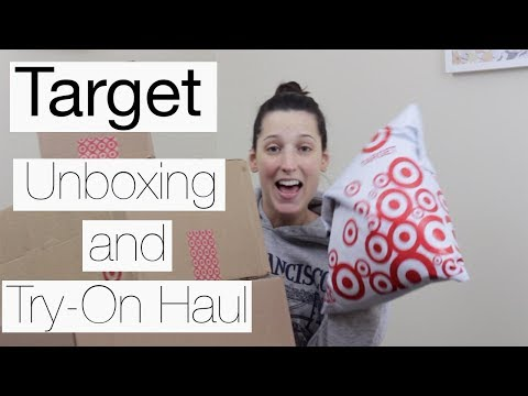 Unboxing and Try On Haul Target and More!