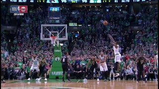 Terry Rozier hits clutch three pointer, Khris Middleton ties it with 0.5 left!