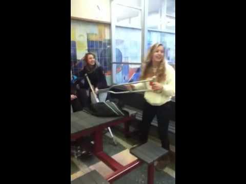 Emma & Brooke + Crutches = Oh God..