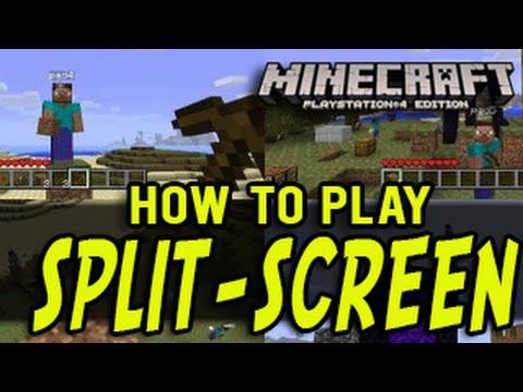 Minecraft PS4 Split-Screen Tutorial (Playstation 4 Minecraft Edition)
