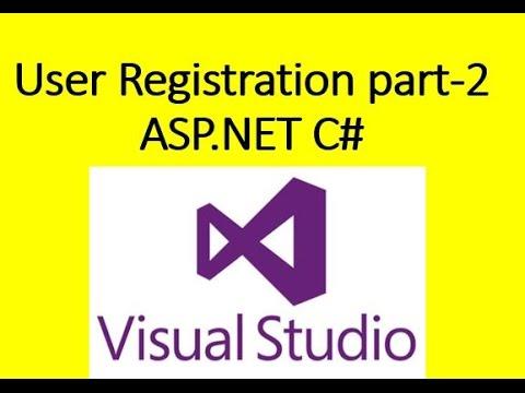 ASP NET Register user, Mail Confirmation, Login Sucess part 2