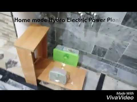 Hydro Power Plant. (Home made working model). Hydro Power Generator