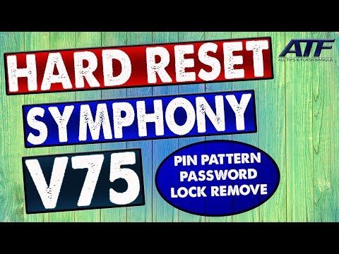 SYMPHONY V75 HARD RESET