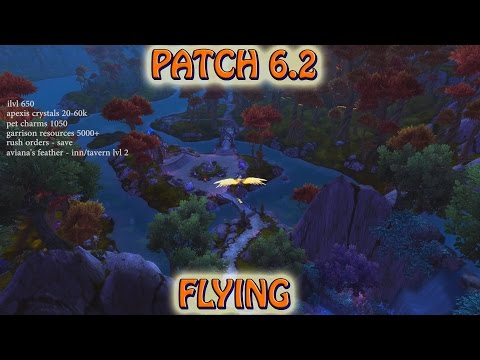 How to be ready for patch 6.2 and flying in Draenor