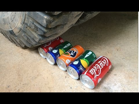 EXPERIMENT THE TRUCK Crushes Coca-Cola, Fanta and Sprite Cans