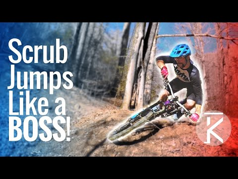 Learn how to scrub and jumps on a mountain bike!