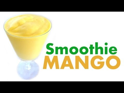 How To Make A Mango Smoothie - Tropical Yellow Mangoes Milkshake Recipes - Milkshakes Recipe Jazevox