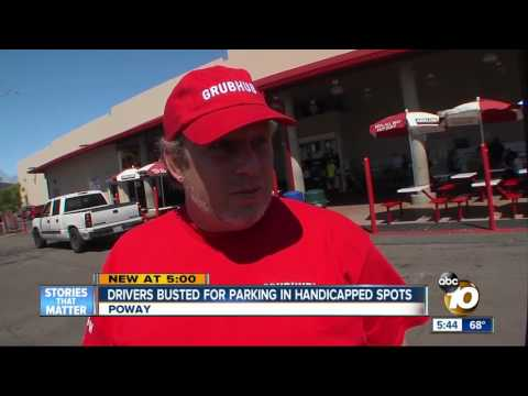 Drivers busted for parking in handicapped spots