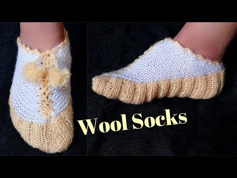 Easy Socks Design with knitting || in hindi