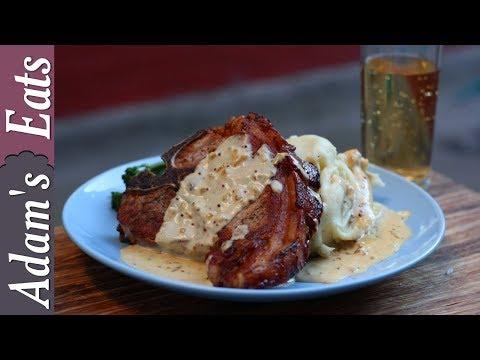 Pork chops with cider cream sauce | Pork chop recipes