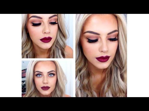 ♡Burgundy, Red, Dark Lip With Smokey Eye Makeup Tutorial♡