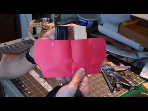 Part 1-6: Making the Pattern For a Leather Double Magazine Pouch