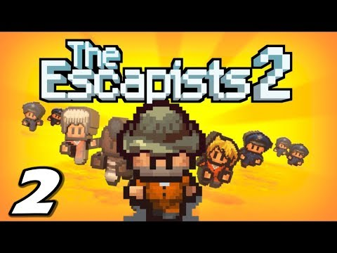 The Escapists 2 - FIRST JOB and BEAT-DOWN - Episode 2 (Escapists 2 Gameplay Playthrough)