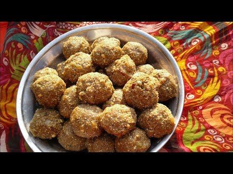 Chawal ki pinni ♥Rice flour ladoo recipe♥ Punjabi Sweet dish♥ MY Village Food Secrets